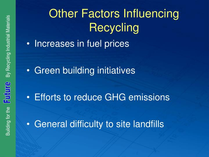 Other Factors Influencing Recycling