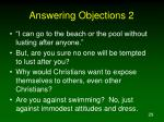answering objections 2