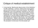 critique of medical establishment