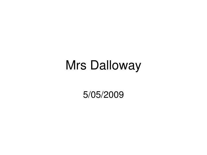 mrs dalloway n.