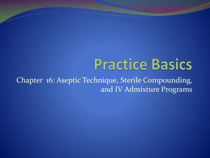 practice basics n.