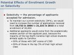 potential effects of enrollment growth on selectivity