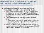 potential effects of enrollment growth on the diversity of the entering class