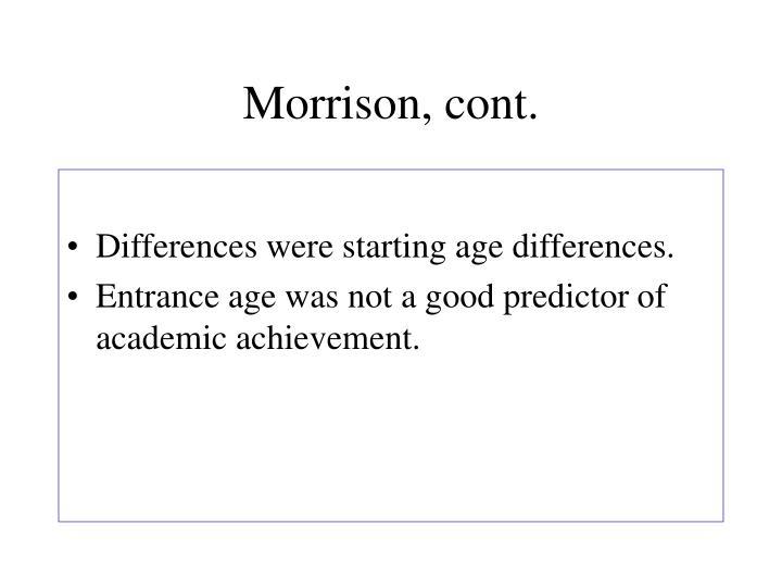Morrison, cont.