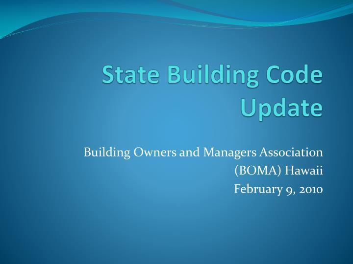 state building code update n.