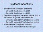 textbook adoptions