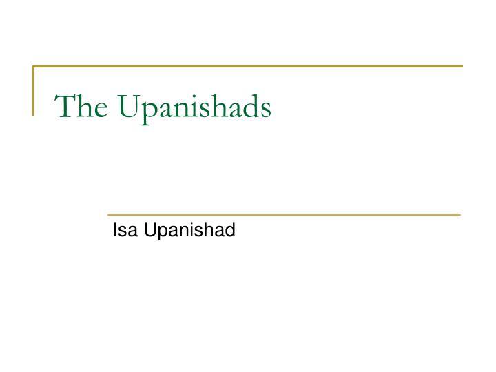 the upanishads n.