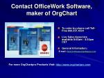 contact officework software maker of orgchart