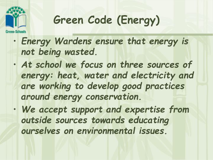 Green code energy