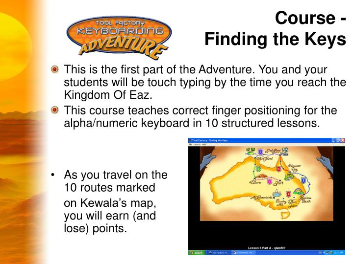 Course - Finding the Keys