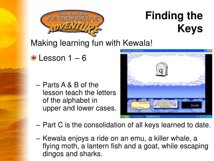 Finding the Keys