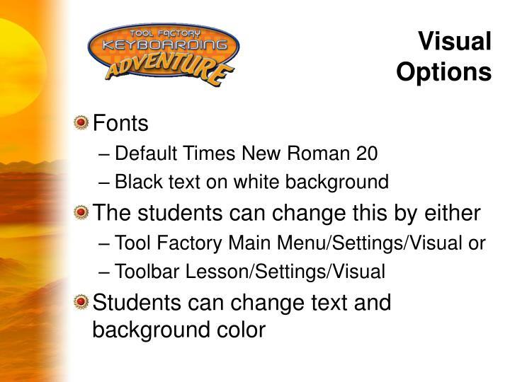 Visual Options