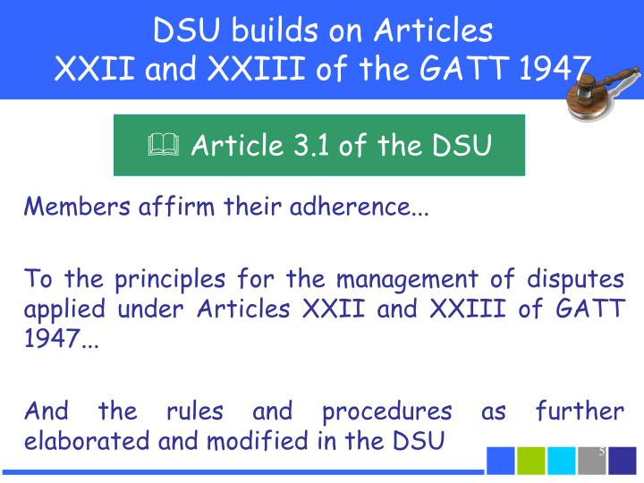 DSU builds on Articles