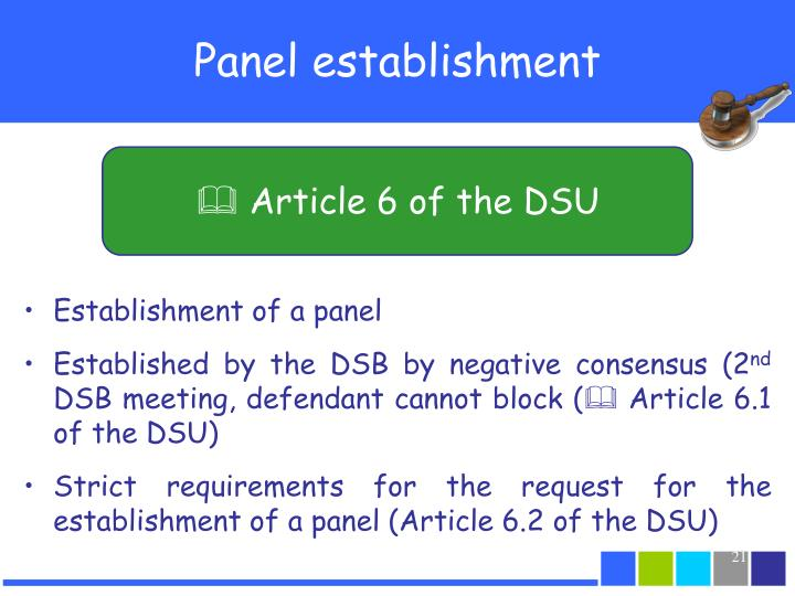  Article 6 of the DSU