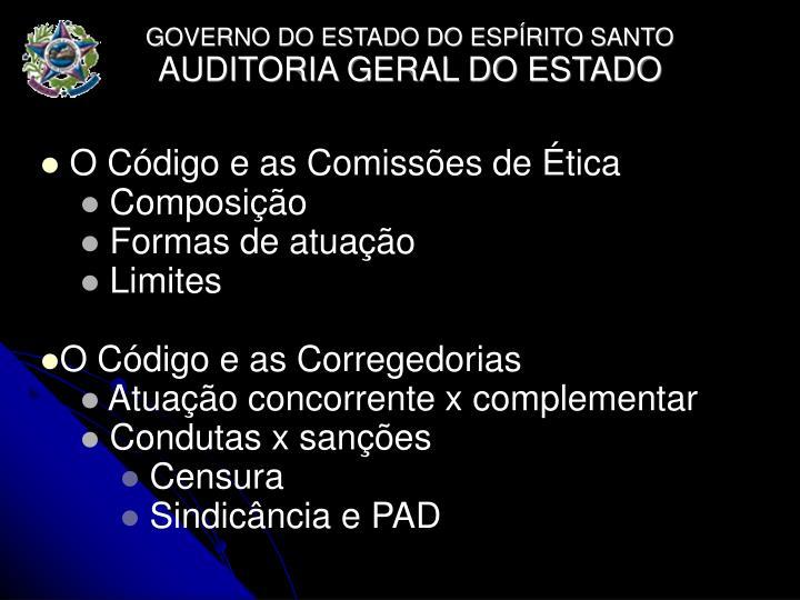 O Código e as Comissões de Ética