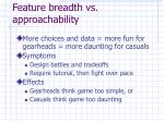 feature breadth vs approachability