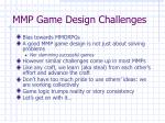 mmp game design challenges