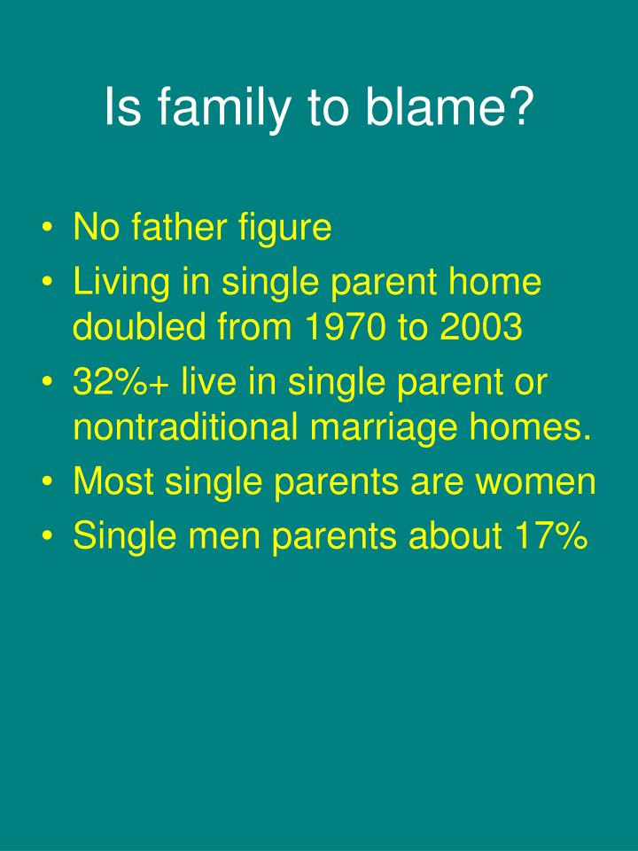 Is family to blame?