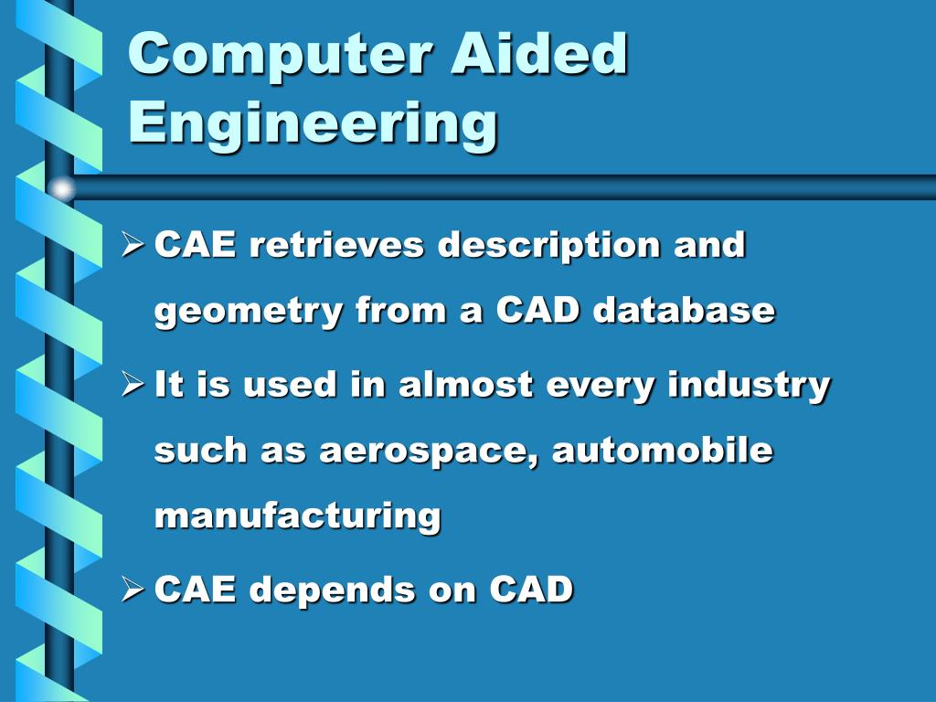 Ppt Computer Aided Engineering Powerpoint Presentation Free Download Id 1214431