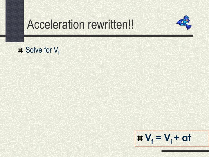 Solve for V