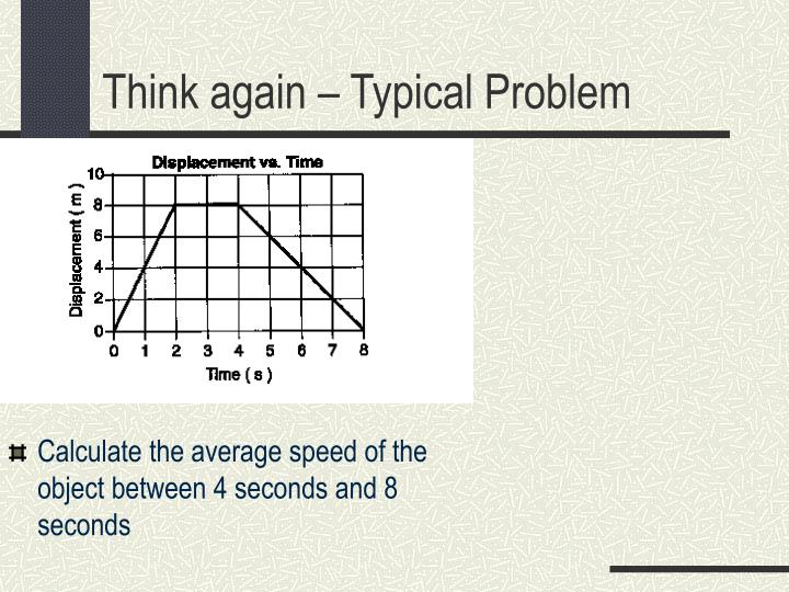 Calculate the average speed of the object between 4 seconds and 8 seconds