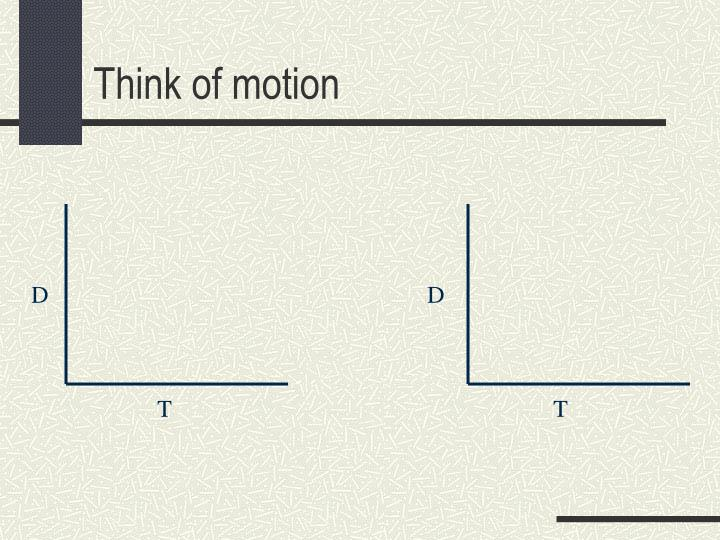 Think of motion