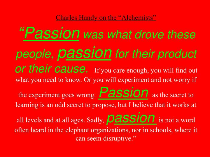 """Charles Handy on the """"Alchemists"""""""