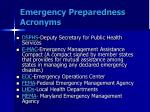 emergency preparedness acronyms