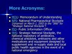 more acronyms