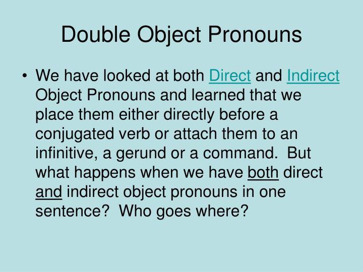 Double object pronouns1