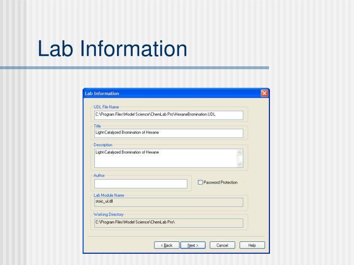 Lab Information