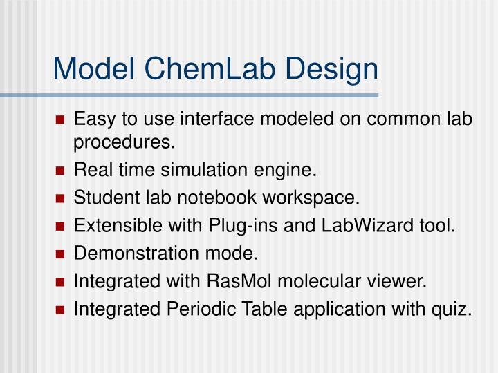 Model chemlab design