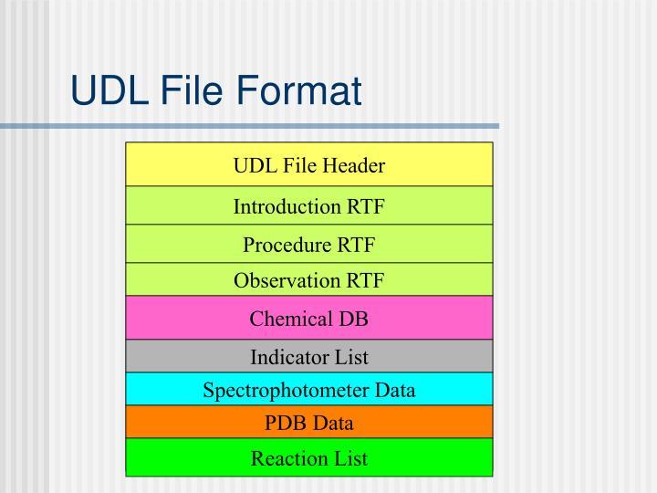 UDL File Format
