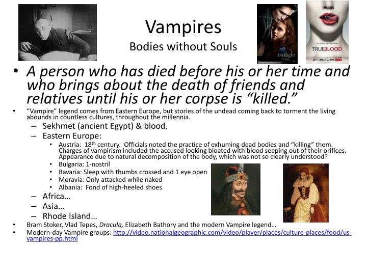 Vampires bodies without souls