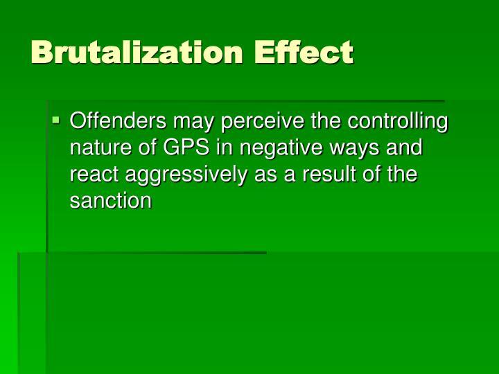 Brutalization Effect