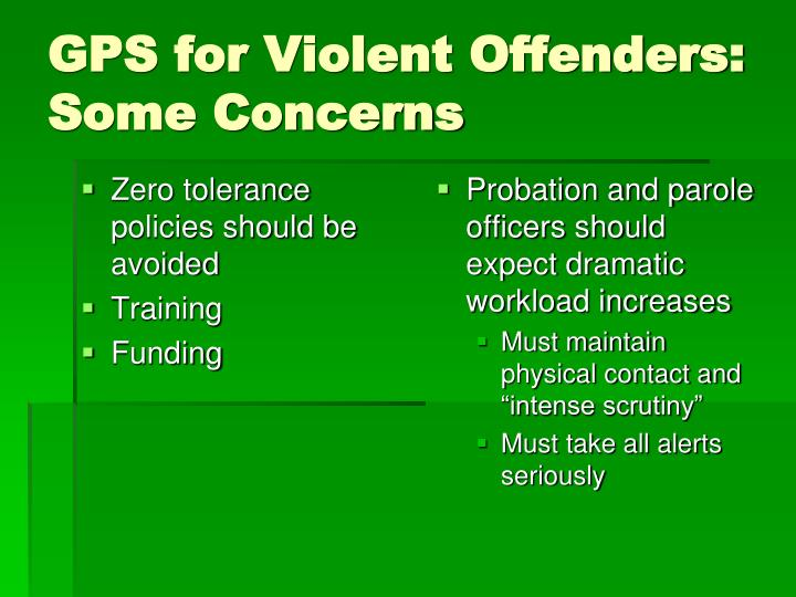 Zero tolerance policies should be avoided