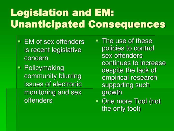 EM of sex offenders is recent legislative concern