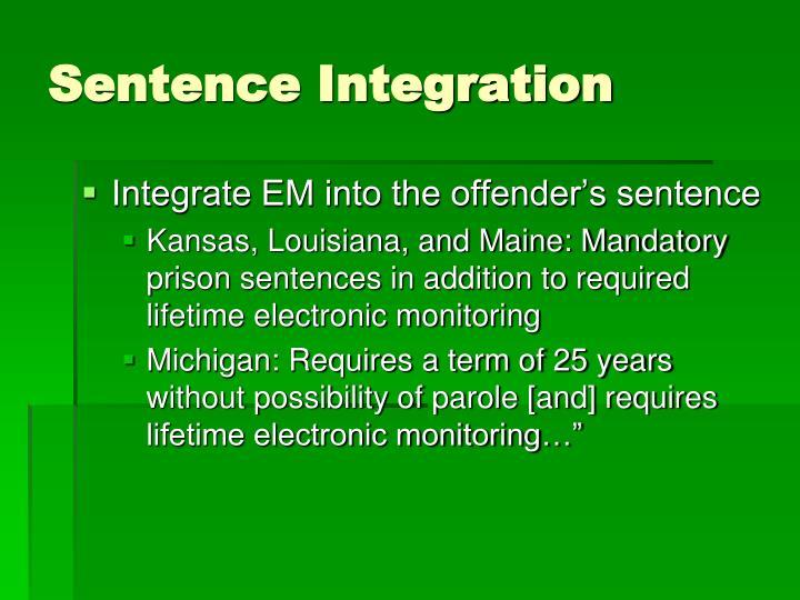 Sentence Integration
