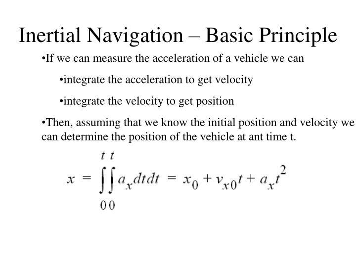 Inertial navigation basic principle