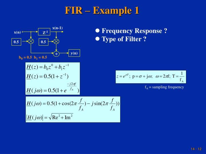 FIR – Example 1