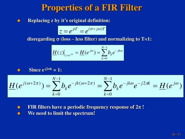 Properties of a FIR Filter