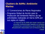 clusters de aam s ambiente marino