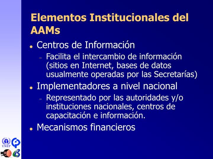 Elementos Institucionales del