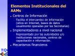 elementos institucionales del aam s