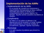 implementaci n de los aam s