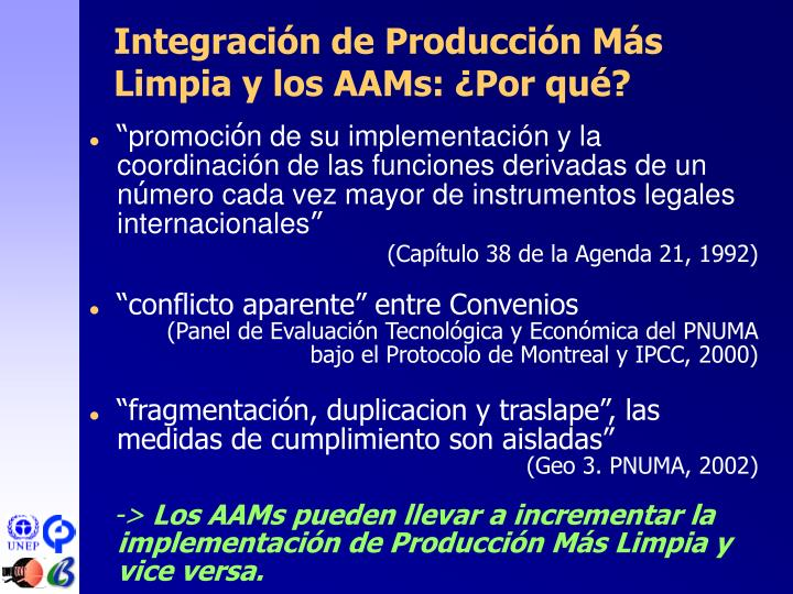 Integración de Producción Más Limpia y los