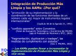 integraci n de producci n m s limpia y los aa ms por qu