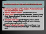 hydrocarbon accumulation in saudi arabia