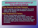 sedimentary rocks north of the arabian shield
