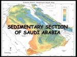 sedimentary section of saudi arabia
